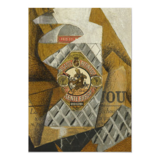 De fles van Anís del Mono door Juan Gris 12,7x17,8 Uitnodiging Kaart
