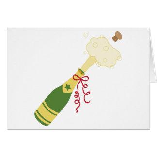 De Fles van Champagne Briefkaarten 0