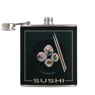 De fles van de de douanenaam van sushi heupfles