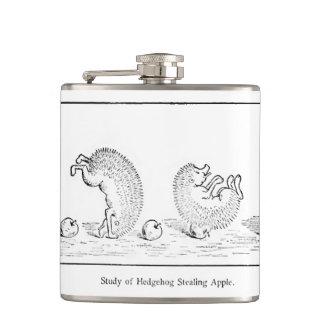 De fles van de egel heupfles