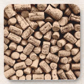 De Fles van de wijn kurkt Drankjes Onderzetters