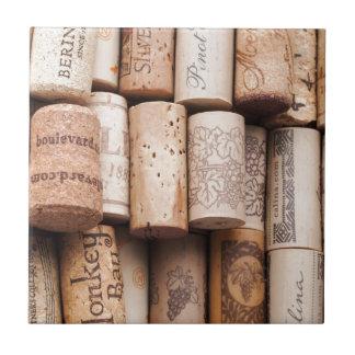 De Fles van de wijn kurkt Tegeltje