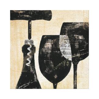 De Fles van de wijn met Twee Glazen Canvas Print