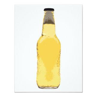 De Fles van het bier 10,8x13,9 Uitnodiging Kaart