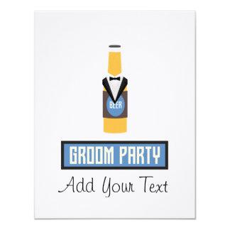 De Fles van het Bier van de Partij van de 10,8x13,9 Uitnodiging Kaart
