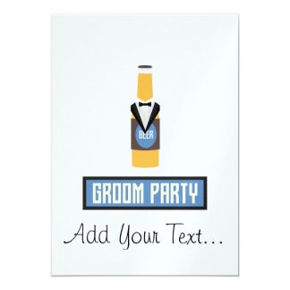 De Fles van het Bier van de Partij van de 12,7x17,8 Uitnodiging Kaart