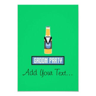 De Fles van het Bier van de Partij van de 8,9x12,7 Uitnodiging Kaart