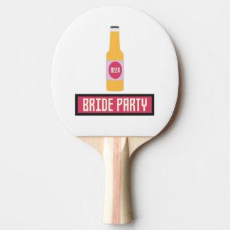 De Fles van het Bier van de Partij van de bruid Tafeltennis Bat