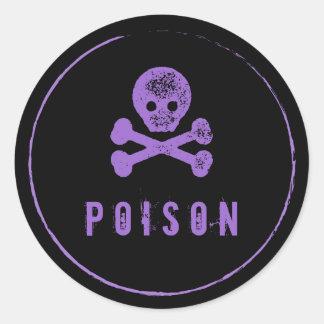 De Fles van het vergift - de flessenetiket van de Ronde Stickers