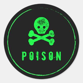 De Fles van het vergift - de flessenetiket van de Ronde Sticker