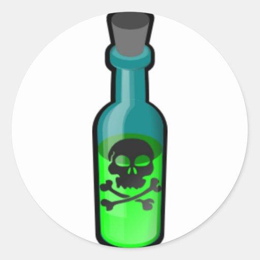 De Fles van het vergift Ronde Stickers