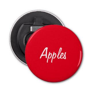 De Flesopener van appelen Button Flesopener