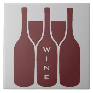 De Flessen en de Glazen van de wijn ontwerpen Keramisch Tegeltje