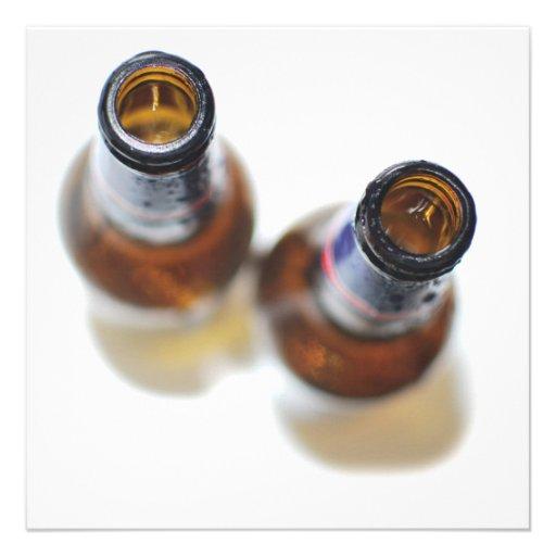 De Flessen van het bier Persoonlijke Aankondiging