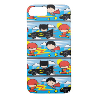 De Flits, de Superman, en Batman die van Chibi iPhone 8/7 Hoesje