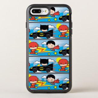 De Flits, de Superman, en Batman die van Chibi OtterBox Symmetry iPhone 8 Plus / 7 Plus Hoesje