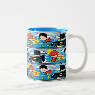 De Flits, de Superman, en Batman die van Chibi Tweekleurige Koffiemok