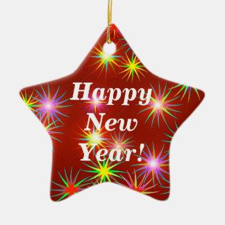De Flits van het nieuwjaar Keramisch Ster Ornament