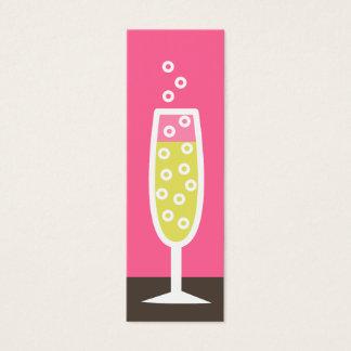 De fluit van Champagne Mini Visitekaartjes