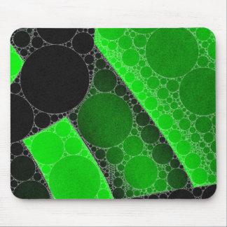 De fluorescente Groene Zwarte Samenvatting van de Muismatten