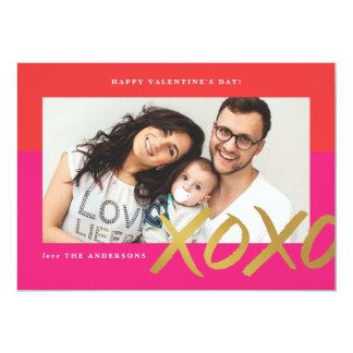 De folie van de Kaart van de Valentijnsdag van de 12,7x17,8 Uitnodiging Kaart