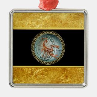 De folieontwerp van de Astrologie van de Zilverkleurig Vierkant Ornament