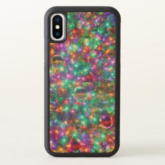 De Fonkelende Sterren van Kerstmis van de luxe iPhone X Hoesjes 0