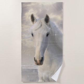De fonkelende Witte Handdoek van het Strand van
