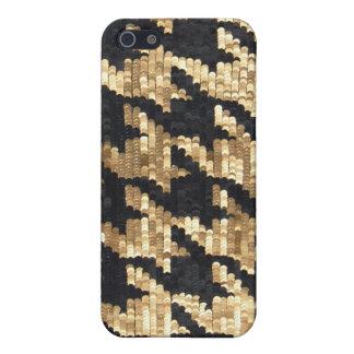 De fonkeling schittert Gouden Bling Houndstooth iPhone 5 Case