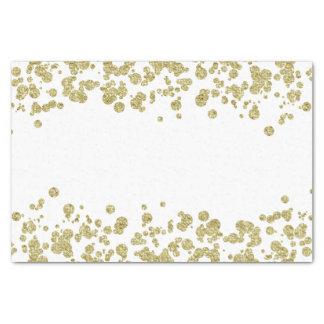 De Fonkeling van confettien glanst toenam Gouden Tissuepapier