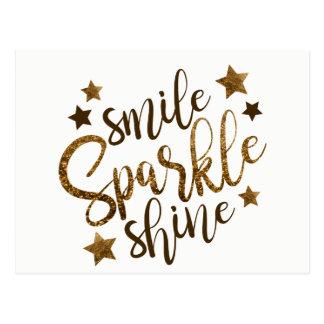 De Fonkeling van de glimlach glanst, sterren Briefkaart