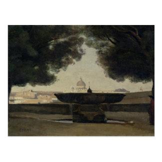 De fontein van de Franse Academie in Rome Briefkaart