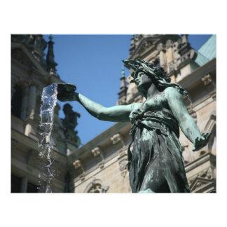De Fontein van Hygieia Hamburg Duitsland Persoonlijke Folder
