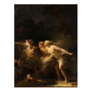 De fontein van Liefde door Jean-Honore Fragonard Briefkaart
