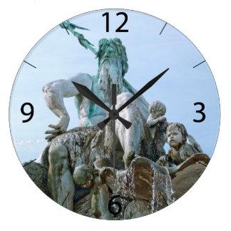 De Fontein van Neptunus in Berlijn Grote Klok