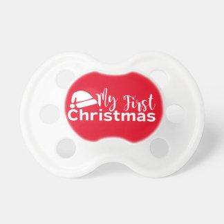 De Fopspeen van Eerste Kerstmis van de rode Baby