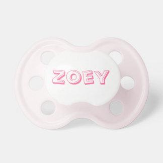 De Fopspeen van het baby met de naam Zoey