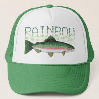 De forelgift van de regenboog voor een visser of trucker pet
