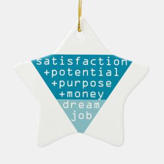 de formule van de droombaan keramisch ster ornament
