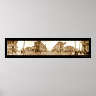 De Foto 1907 van de Straat van Idaho van Boise Poster