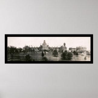 De Foto 1907 van de Universiteit van Macon van Ran Poster