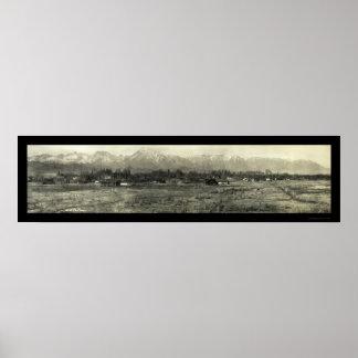 De Foto 1911 van CA van de Provincie van Inyo van  Poster