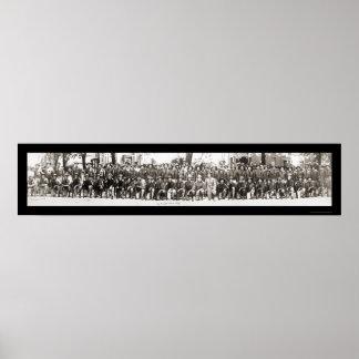 De Foto 1917 van de Geweren WWI van infanteristen Poster