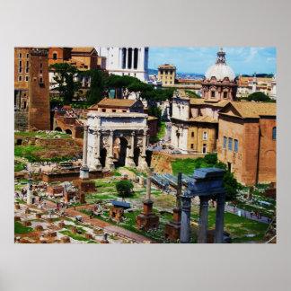 De Foto 2009 van Rome van het Panorama van het for Poster