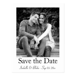 de foto bewaart het datumbriefkaart briefkaart