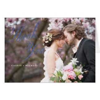 De FOTO DANKT U KAARDT huwelijk dankt u kaardt Kaart