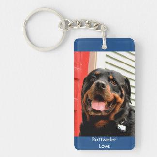 De Foto Keychain van de Liefde van Rottweiler Sleutelhanger