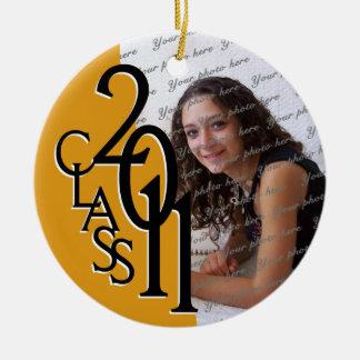 De Foto van de Afstuderen van de klasse 2011 Rond Keramisch Ornament