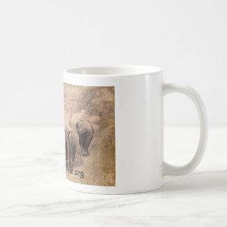 De foto van de de familiekunst van de olifant koffiemok