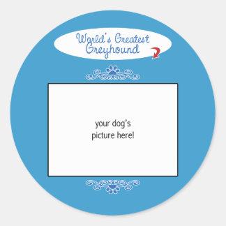 De Foto van de douane! De Grootste Windhond van Ronde Stickers